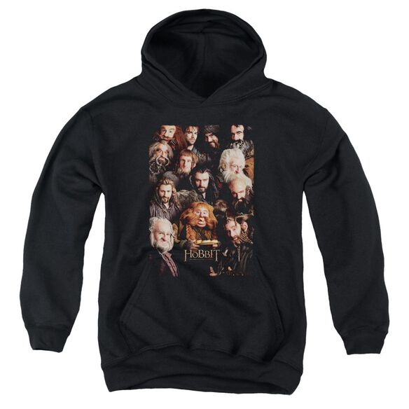 The Hobbit Dwarves Poster Youth Pull Over Hoodie