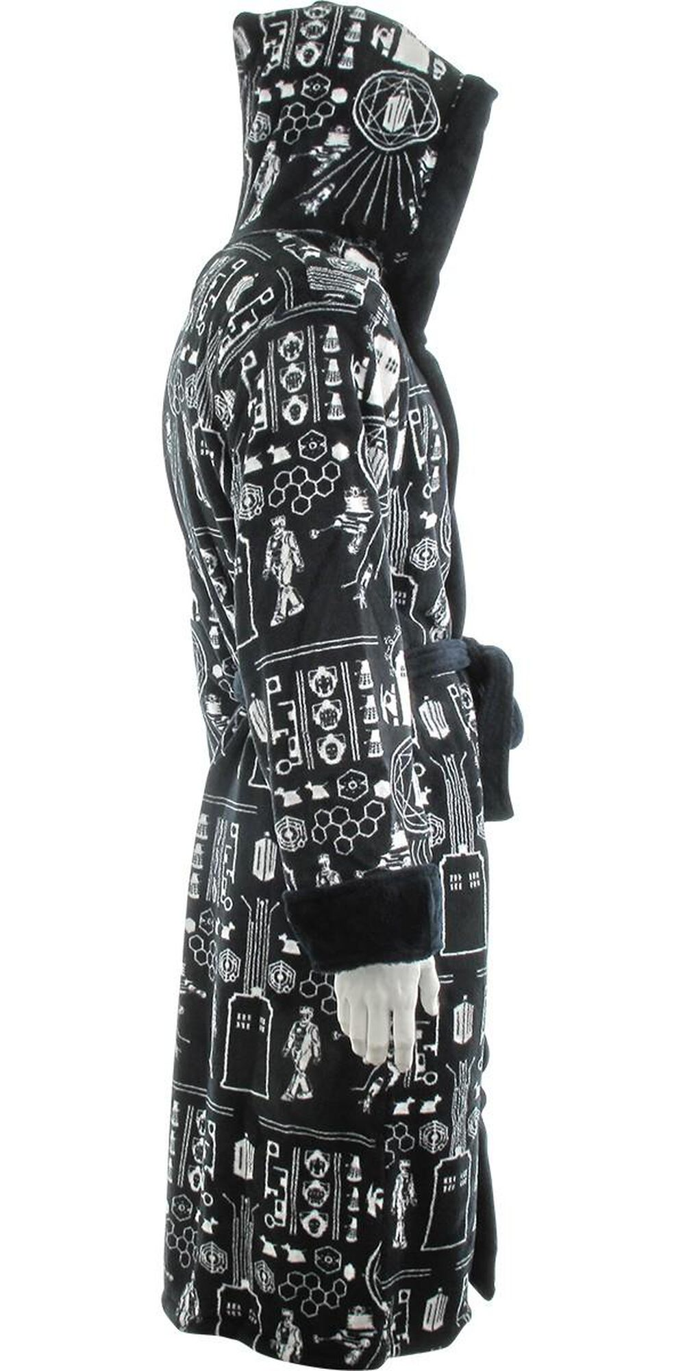 Images. Doctor Who Time Lord All Over Hooded Fleece Robe 95b06c4b7