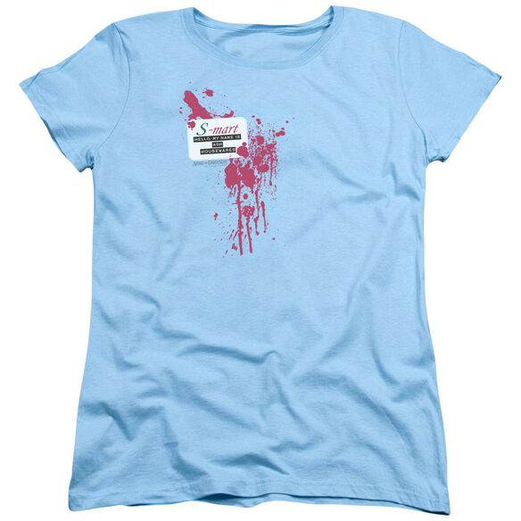 Army Of Darkness S Mart Name Tag Short Sleeve Womens Tee Light T-Shirt
