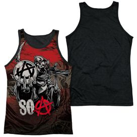 Sons Of Anarchy Reaper Ball Adult Poly Tank Top Black Back