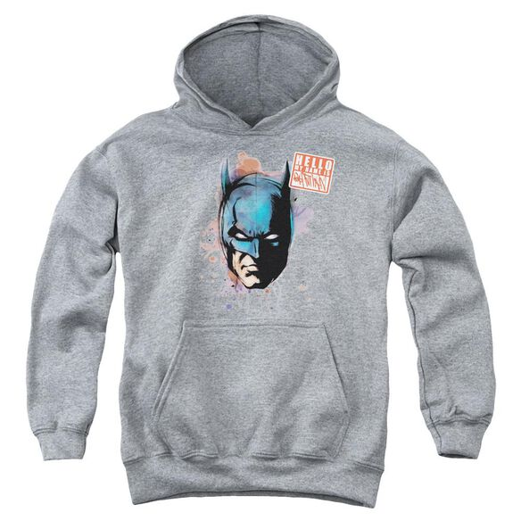 Batman Hello Youth Pull Over Hoodie