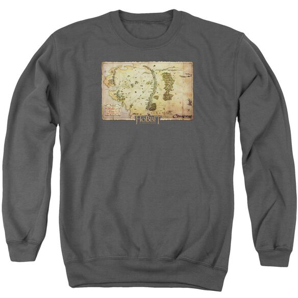 The Hobbit Middle Earth Map Adult Crewneck Sweatshirt