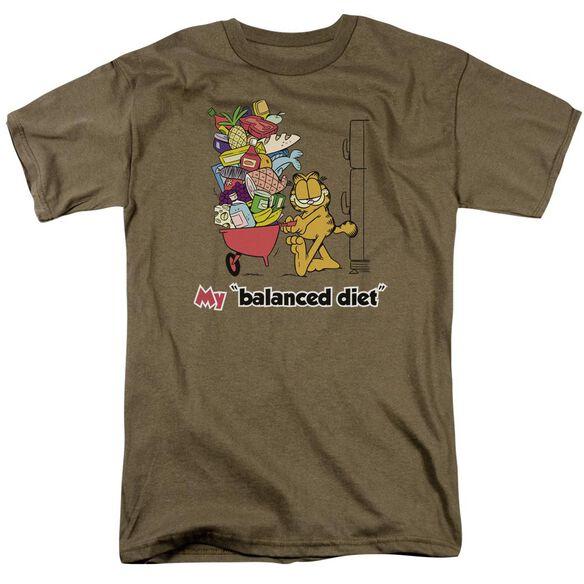 GARFIELD BALANCED DIET-S/S ADULT T-Shirt