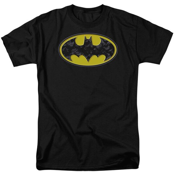 Batman Bats In Logo Short Sleeve Adult T-Shirt