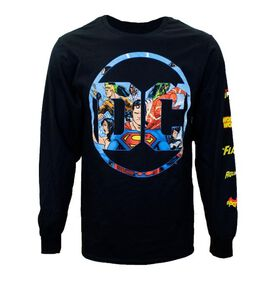DC Comics Hero Logo Long Sleeve T-Shirt