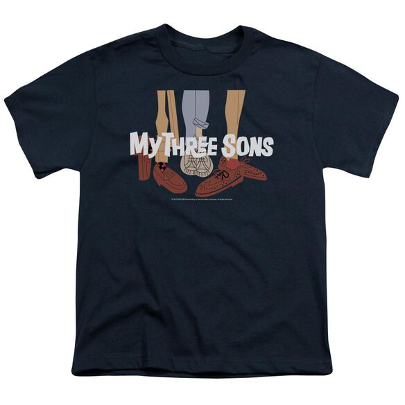 MY THREE SON HOES LOGO - S/S YOUTH 18/1 - NAVY T-Shirt