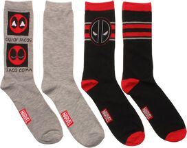 Deadpool Tacos 2 Pack Crew Socks Set