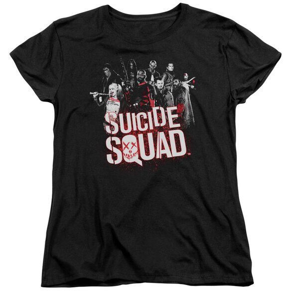 Suicide Squad Squad Splatter Short Sleeve Womens Tee T-Shirt