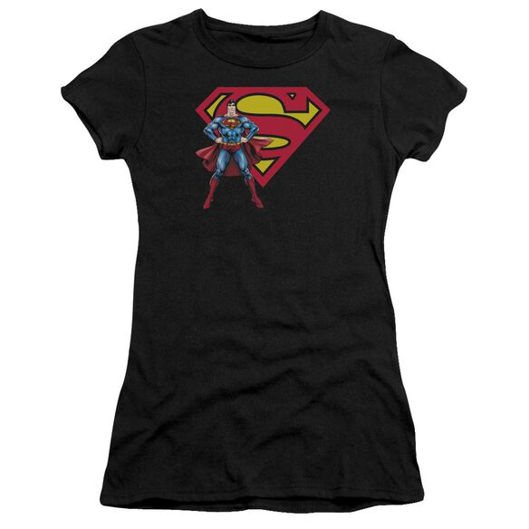 Superman Superman & Logo Premium Bella Junior Sheer Jersey