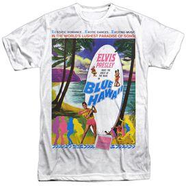 Elvis Blue Hawaii Short Sleeve Adult Poly Crew T-Shirt