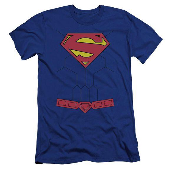 Superman New 52 Torso Premuim Canvas Adult Slim Fit Royal