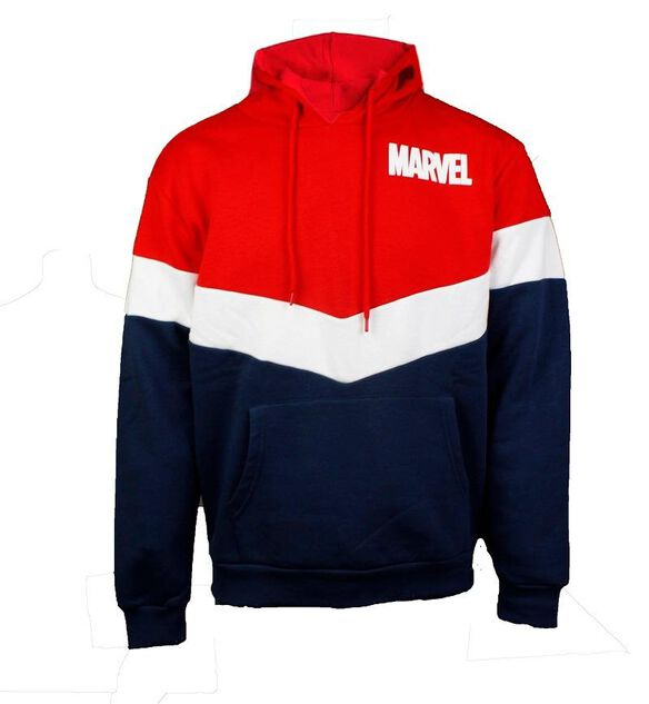 Marvel Tri Color Chevron Hoodie by Fye