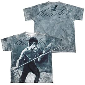 Bruce Lee Whoooaa Short Sleeve Youth Poly Crew T-Shirt