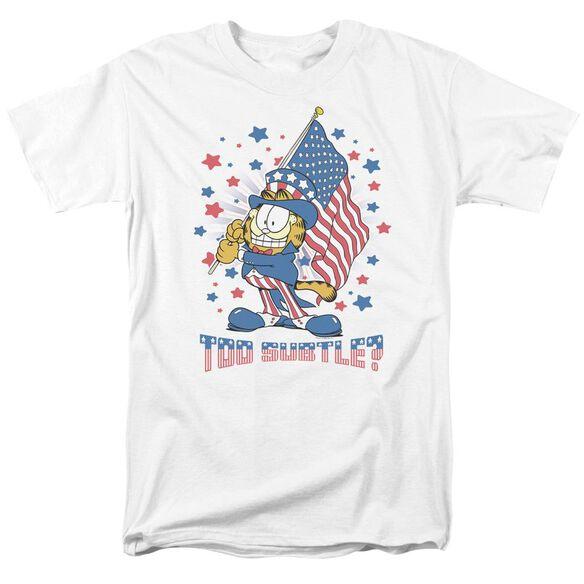 GARFIELD SUBTLE - S/S ADULT 18/1 - WHITE T-Shirt