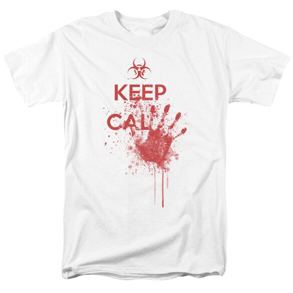 Keep Cal Short Sleeve Adult White T-Shirt
