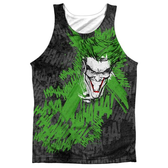 Batman Whats So Funny Adult 100% Poly Tank Top