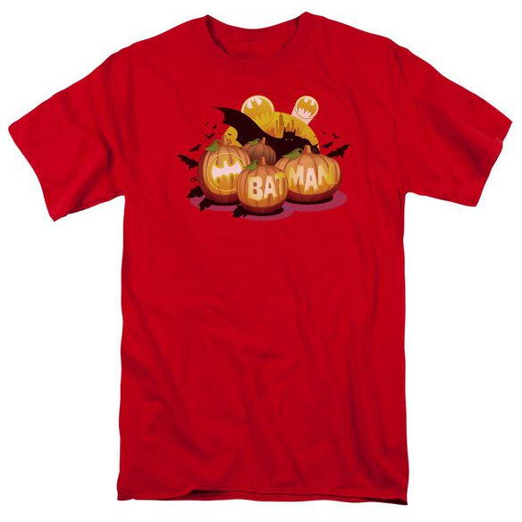Batman Bat O Lanterns Short Sleeve Adult Red T-Shirt
