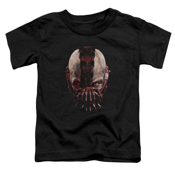 Dark Knight Rises Bane Mask Short Sleeve Toddler Tee Black T-Shirt