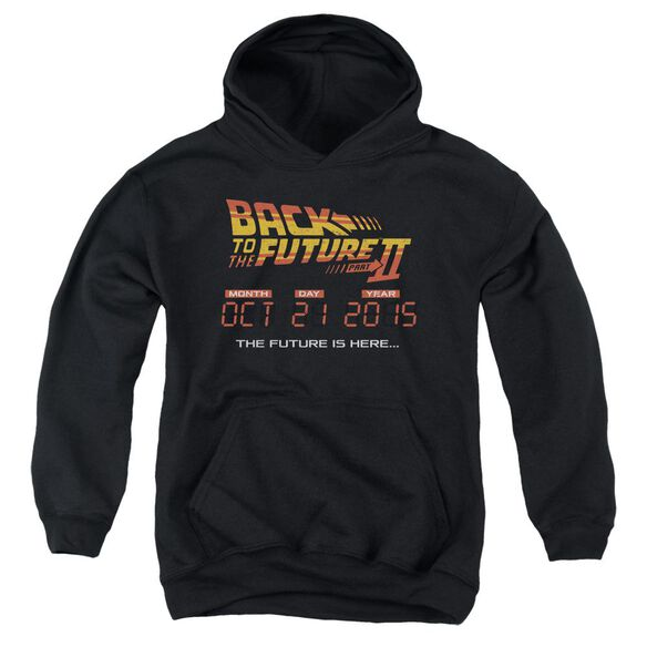 Back To The Future Ii Future Is Here Youth Pull Over Hoodie
