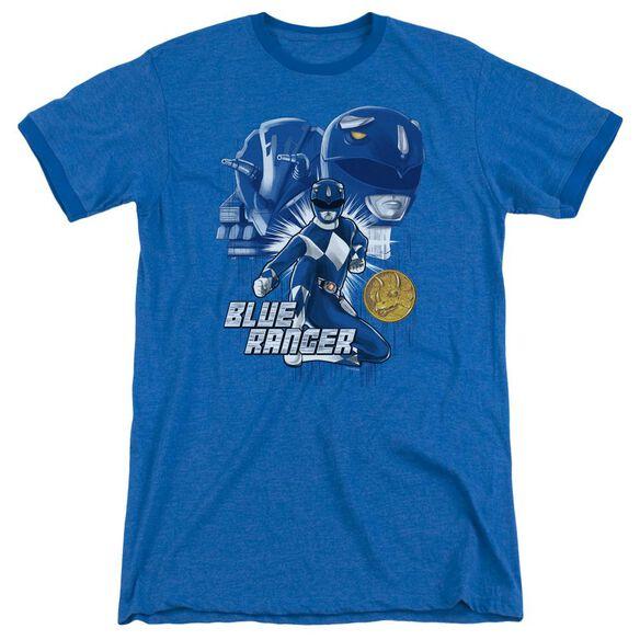 Power Rangers Blue Ranger Adult Ringer Royal Blue