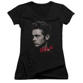 Dean Large Halftones Junior V Neck T-Shirt