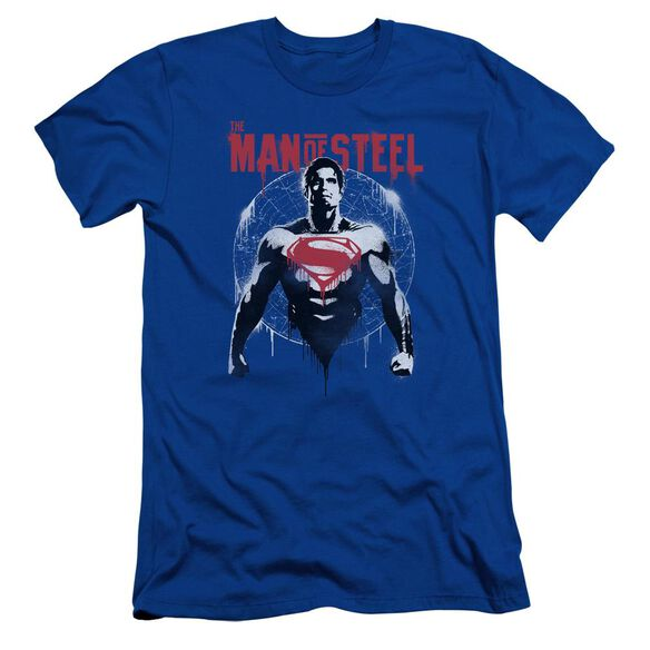 Batman V Superman Super Spray Short Sleeve Adult Royal T-Shirt