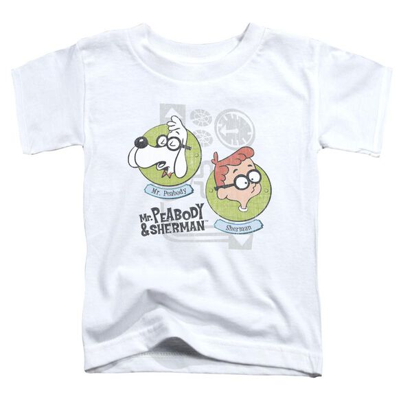 Mr Peabody & Sherman Gadgets Short Sleeve Toddler Tee White T-Shirt