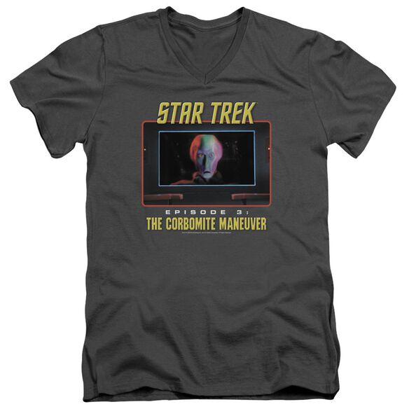 ST ORIGINAL THE CORBOMITE MANEUVER - S/S ADULT V-NECK - CHARCOAL T-Shirt
