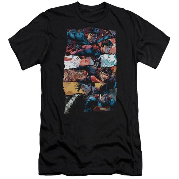 Superman Torn Collage Premuim Canvas Adult Slim Fit