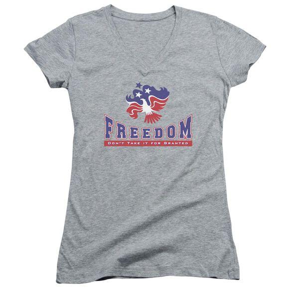 Freedom Junior V Neck Athletic T-Shirt