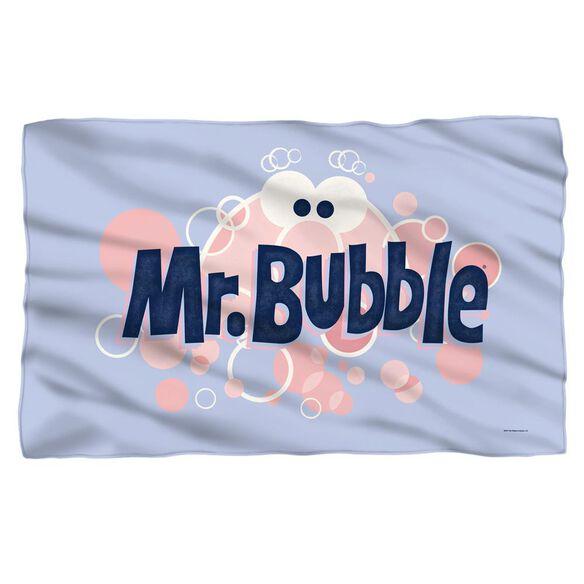 Mr Bubble Eye Logo Fleece Blanket