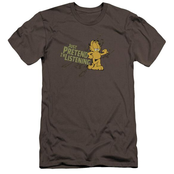 Garfield Just Pretend I'm Listening Premuim Canvas Adult Slim Fit