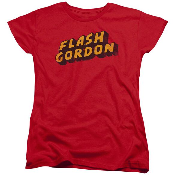 Flash Gordon Logo Short Sleeve Womens Tee T-Shirt