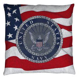 Navy Flag Seal Throw