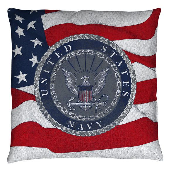 Navy Flag Seal Throw