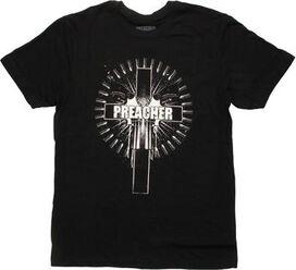 Preacher Cross in Bullet Circle T-Shirt