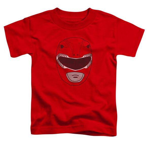 Power Rangers Red Ranger Mask Short Sleeve Toddler Tee Red T-Shirt