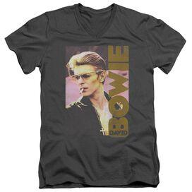 David Bowie Smokin Short Sleeve Adult V Neck T-Shirt