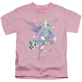 Dc Supergirl Pastels Short Sleeve Juvenile Pink Md T-Shirt