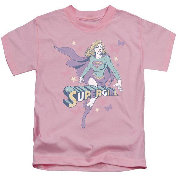 Dc Supergirl Pastels Short Sleeve Juvenile Pink Md T-Shirt