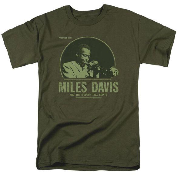 Miles Davis The Green Miles Short Sleeve Adult Military Green T-Shirt