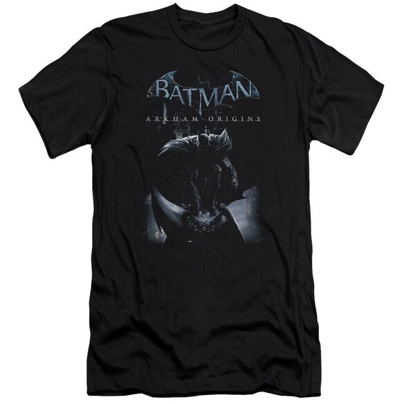 Batman Arkham Origins Perched Cat Short Sleeve Adult T-Shirt
