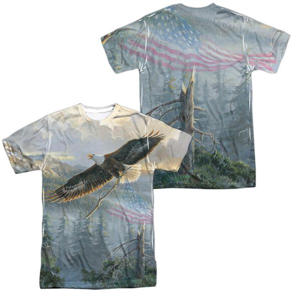 Wild Wings Rebuilding America (Front Back Print) Short Sleeve Adult Poly Crew T-Shirt