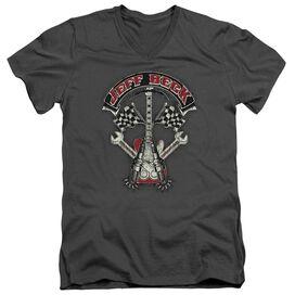 Jeff Beck Beckabilly Guitar Short Sleeve Adult V Neck T-Shirt