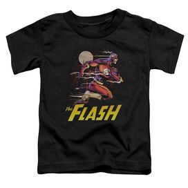 Jla City Run Short Sleeve Toddler Tee Black T-Shirt