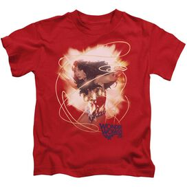 Wonder Woman 75 Th Burst Short Sleeve Juvenile Red T-Shirt