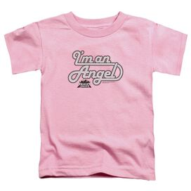 Charlies Angels I'm An Angel Short Sleeve Toddler Tee Pink T-Shirt