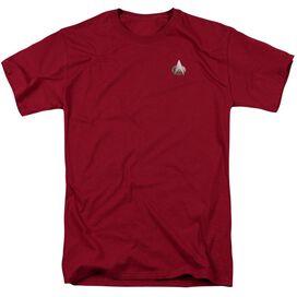 Star Trek Tng Command Emblem Short Sleeve Adult Cardinal T-Shirt
