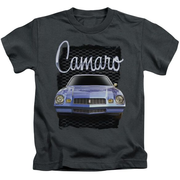 Chevrolet Yellow Camaro Short Sleeve Juvenile Charcoal T-Shirt