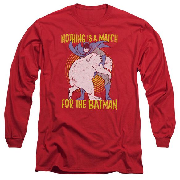 Batman Bear Wrastling Long Sleeve Adult T-Shirt